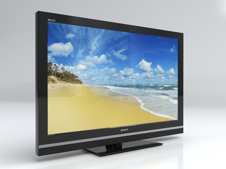LCD TV Sony KDL 37 V 5500 royalty-free 3d model - Preview no. 3