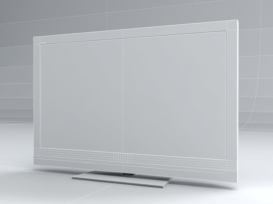 LCD TV Sony KDL 37 V 5500 royalty-free 3d model - Preview no. 6