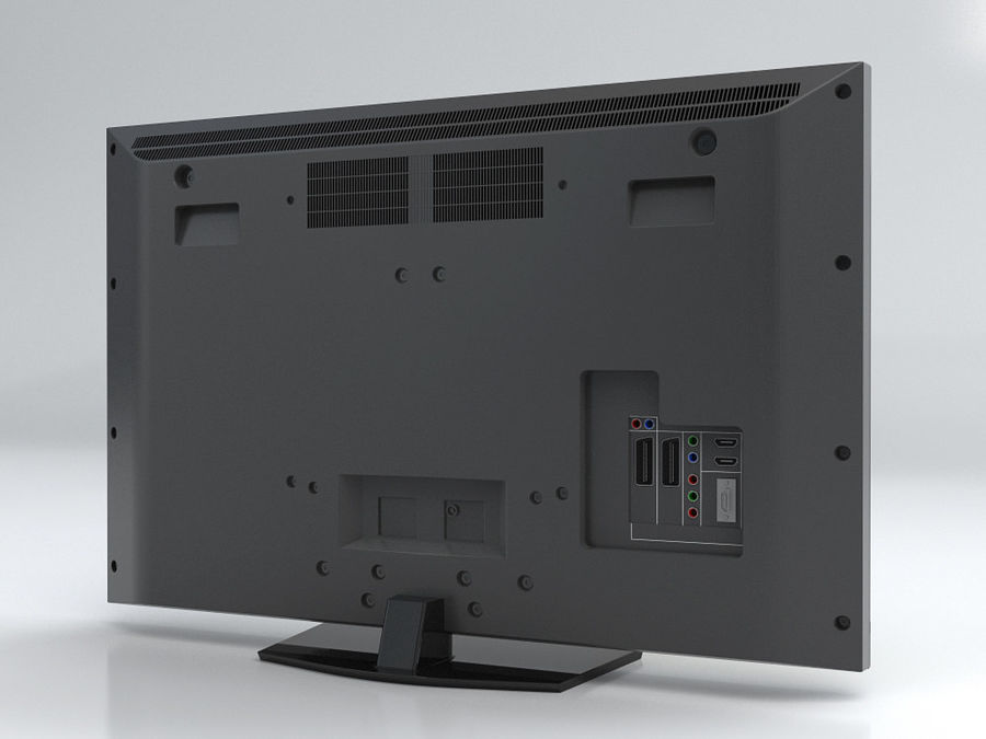 LCD TV Sony KDL 37 V 5500 royalty-free 3d model - Preview no. 4