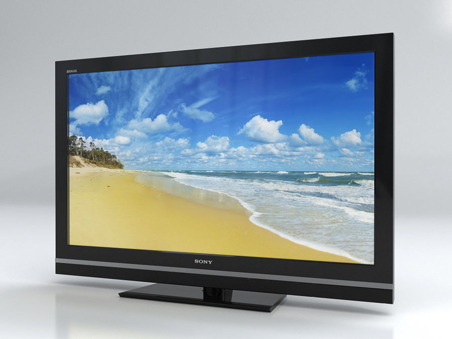 LCD TV Sony KDL 37 V 5500 royalty-free 3d model - Preview no. 1