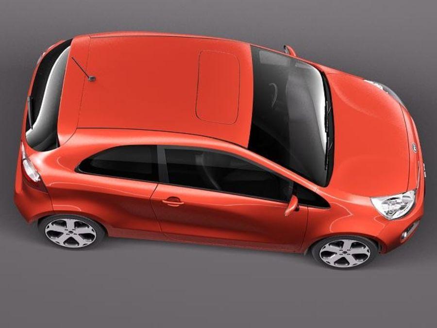 Kia Rio 3-drzwiowy Hatchback 2012 royalty-free 3d model - Preview no. 8