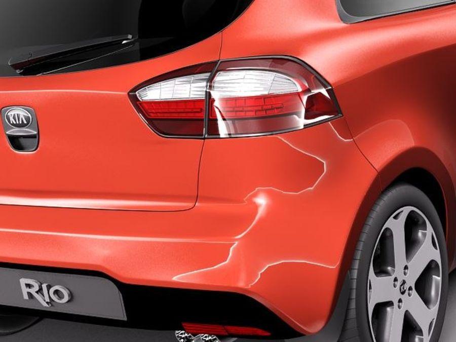 Kia Rio 3-drzwiowy Hatchback 2012 royalty-free 3d model - Preview no. 4