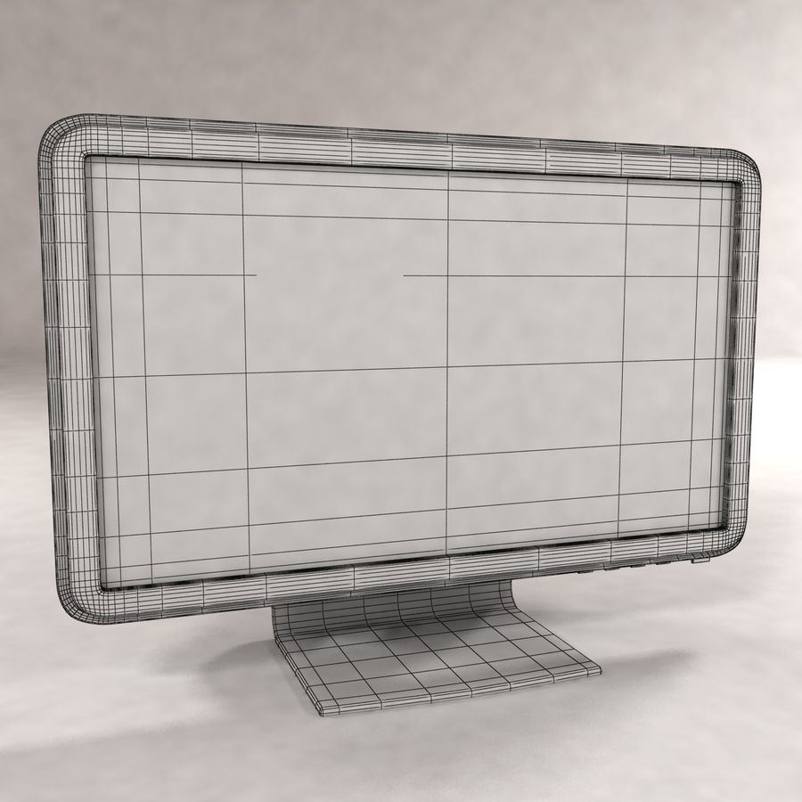 Moniteur à écran large royalty-free 3d model - Preview no. 3