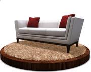 Современный диван 3d model
