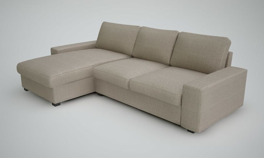 Ikea Sofa royalty-free 3d model - Preview no. 4