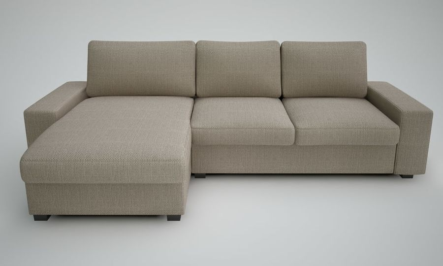 Ikea Sofa royalty-free 3d model - Preview no. 3