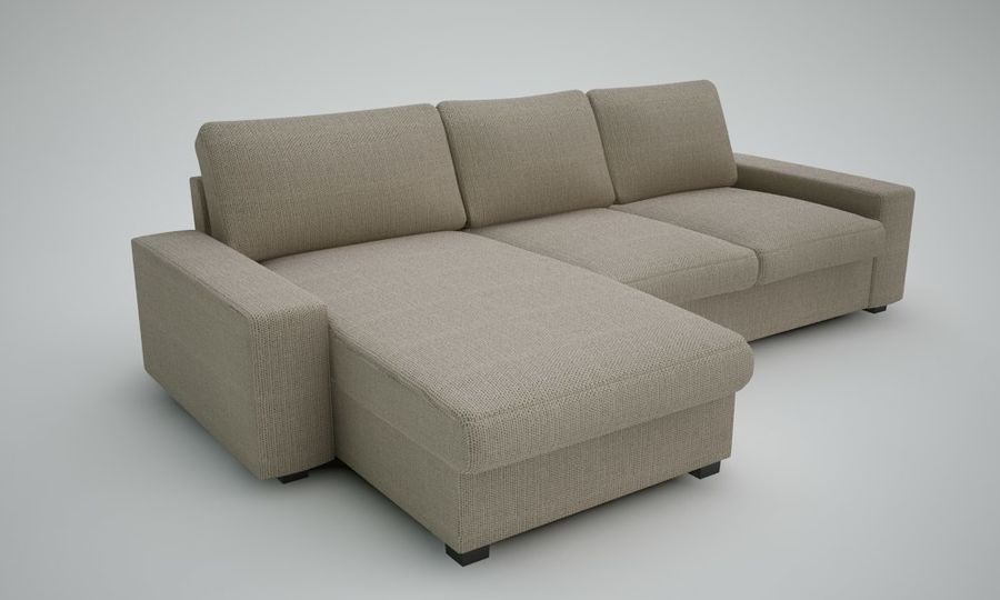 Ikea Sofa royalty-free 3d model - Preview no. 5