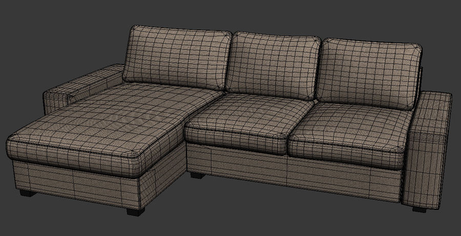 Ikea Sofa royalty-free 3d model - Preview no. 1