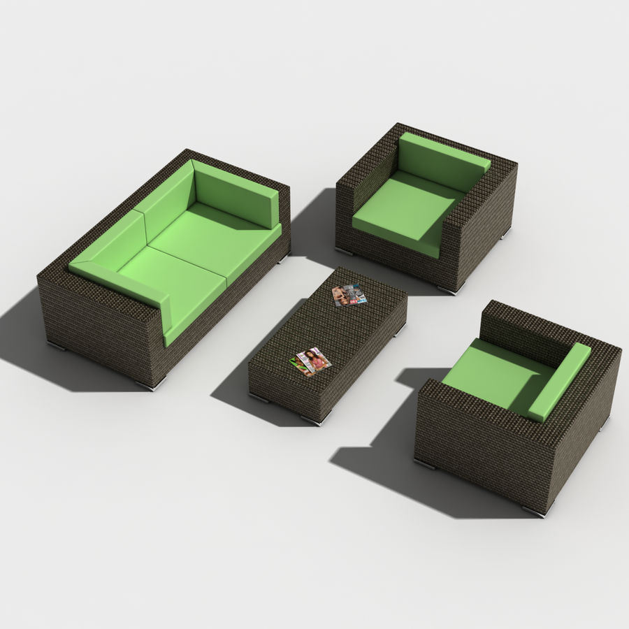 Lounge Set royalty-free 3d model - Preview no. 1