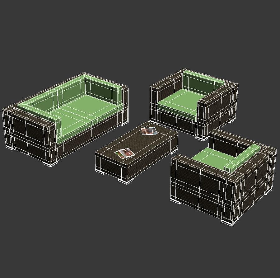 Lounge Set royalty-free 3d model - Preview no. 4