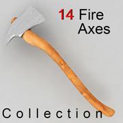 消防斧头 3d model