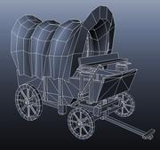 Wagon ouest sauvage. Low poly 3d model