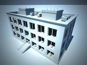 3 층 건물 3d model