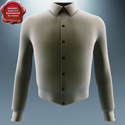 Men Long Sleeve Shirt 3d model