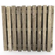 Cerca de madeira 3d model
