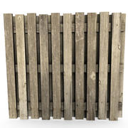 Clôture en bois 3d model
