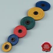 Weight Plates Collection 3d model