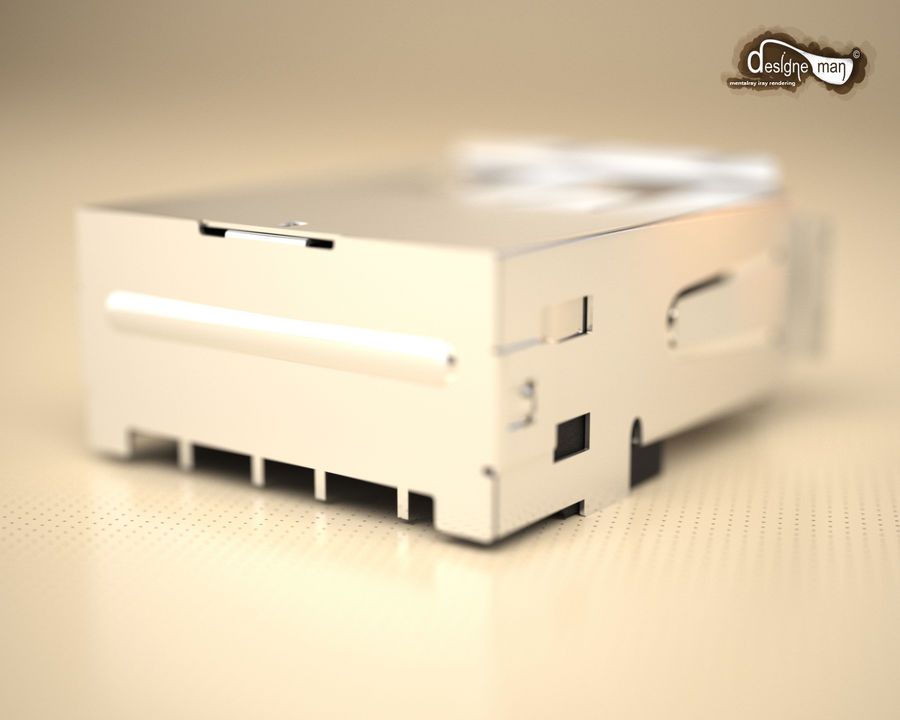 USB 2.0 connector royalty-free 3d model - Preview no. 11