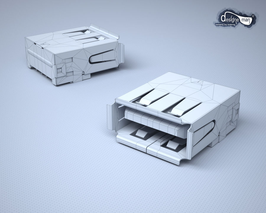 USB 2.0 connector royalty-free 3d model - Preview no. 13