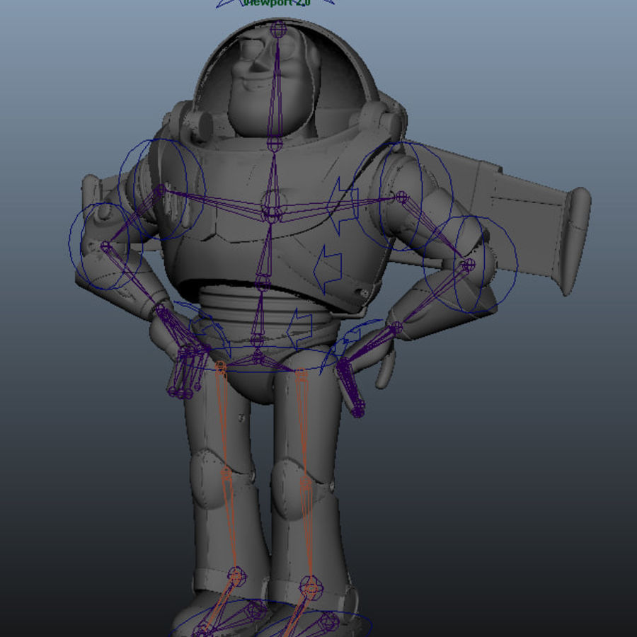 Buzz Lightyear royalty-free 3d model - Preview no. 3