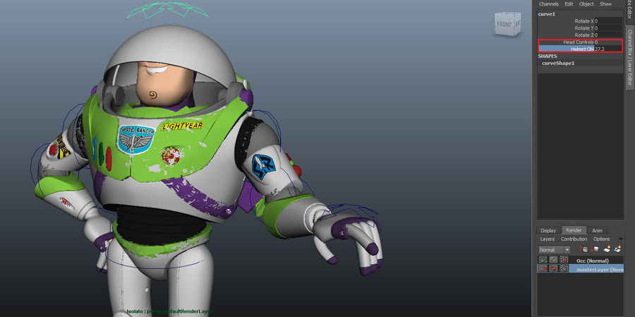 Buzz Lightyear royalty-free 3d model - Preview no. 10