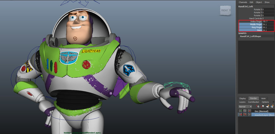 Buzz Lightyear royalty-free 3d model - Preview no. 11