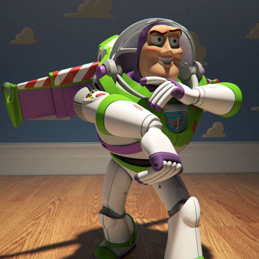 Buzz Lightyear royalty-free 3d model - Preview no. 4