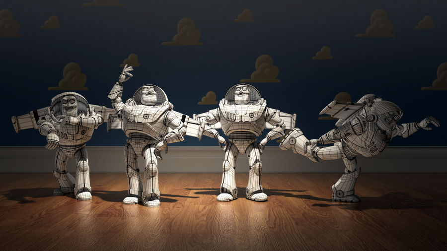 Buzz Lightyear royalty-free 3d model - Preview no. 7
