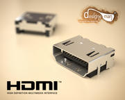 HDMI connector Type-A 3d model