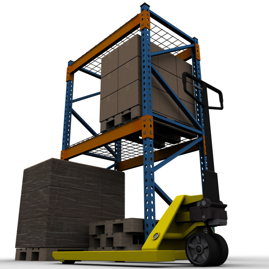 Warehouse royalty-free 3d model - Preview no. 7
