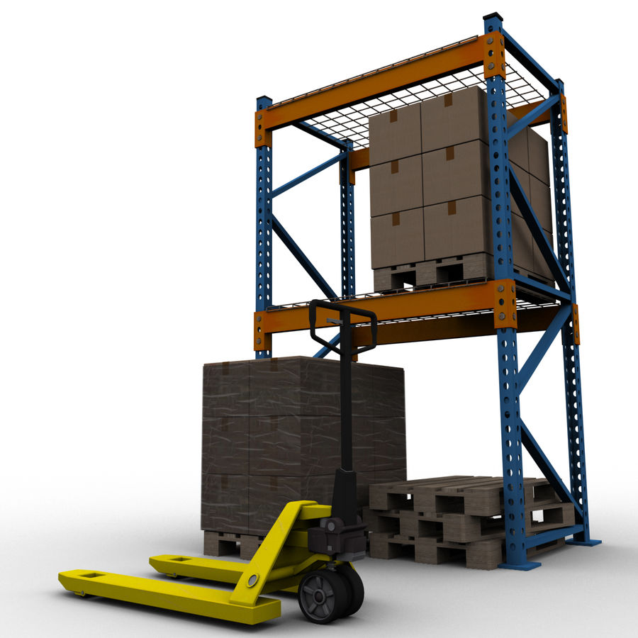 Warehouse royalty-free 3d model - Preview no. 6