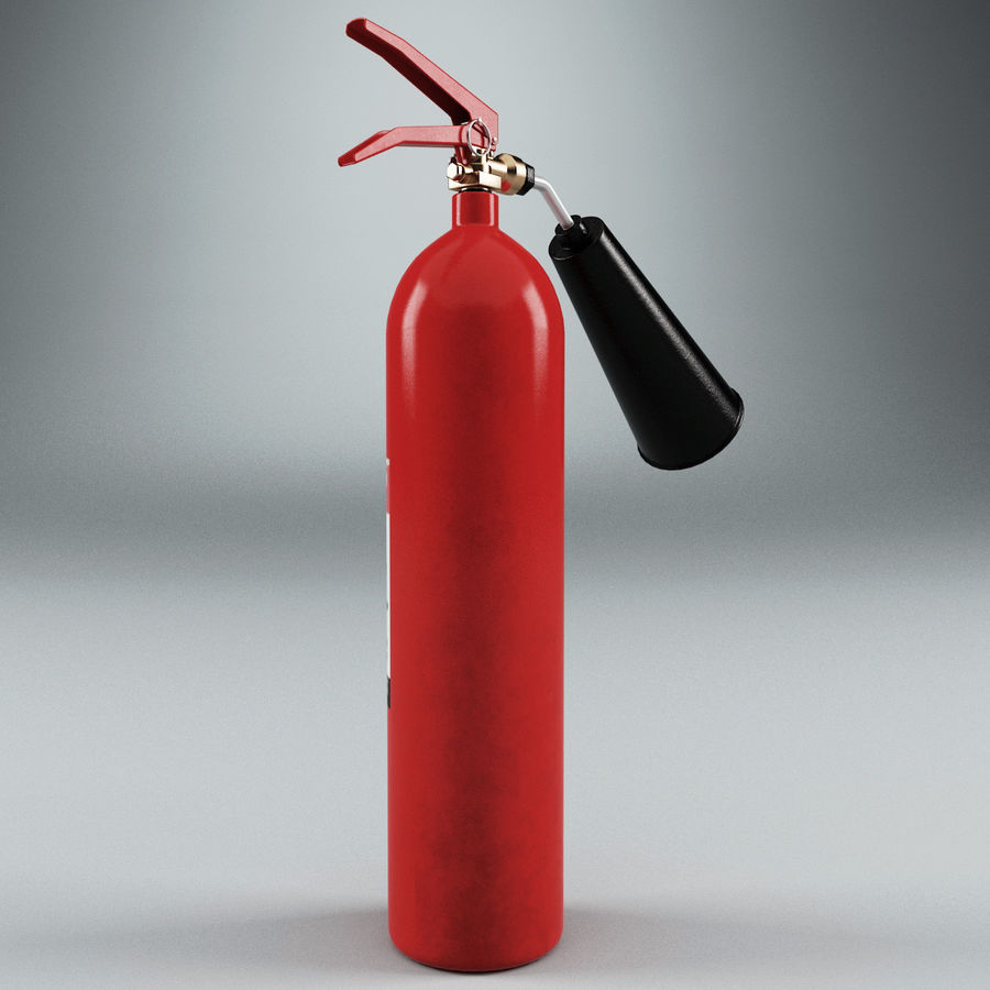 Fire Extinguisher V2 royalty-free 3d model - Preview no. 4