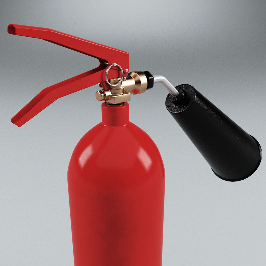 Fire Extinguisher V2 royalty-free 3d model - Preview no. 9