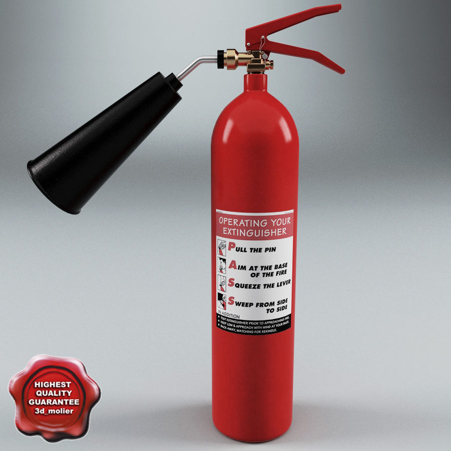 Fire Extinguisher V2 royalty-free 3d model - Preview no. 1