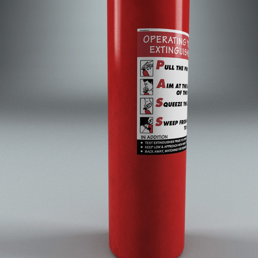 Fire Extinguisher V2 royalty-free 3d model - Preview no. 7