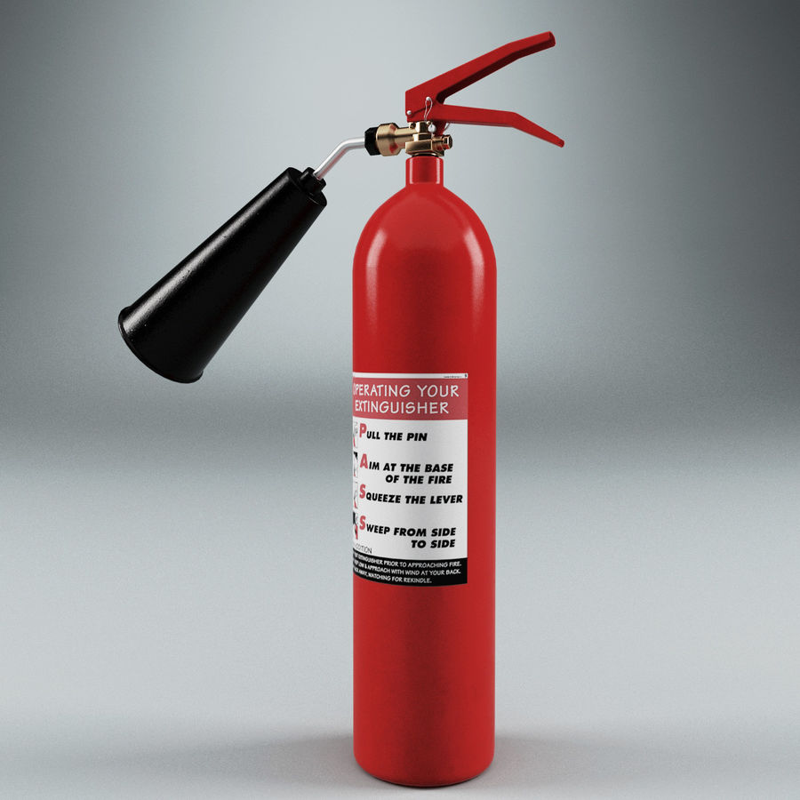 Fire Extinguisher V2 royalty-free 3d model - Preview no. 5