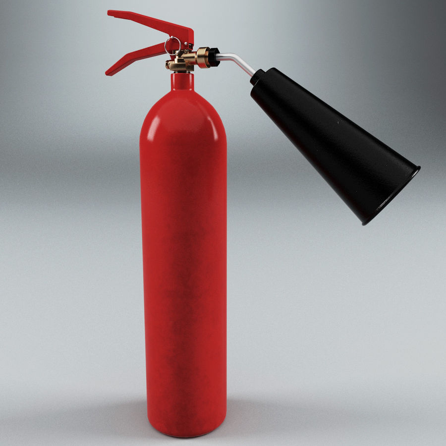 Fire Extinguisher V2 royalty-free 3d model - Preview no. 3