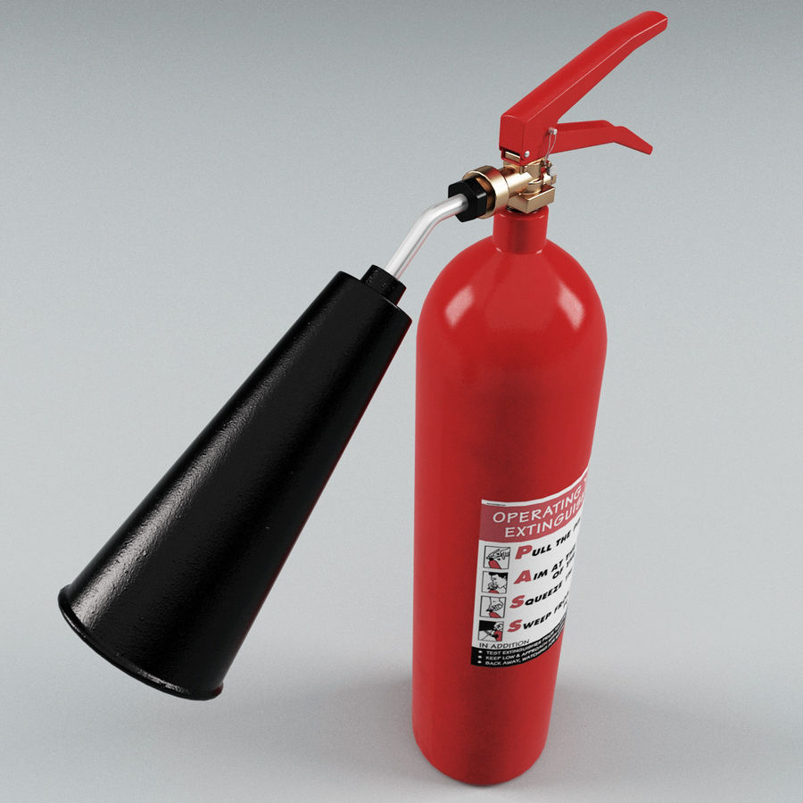 Fire Extinguisher V2 royalty-free 3d model - Preview no. 6
