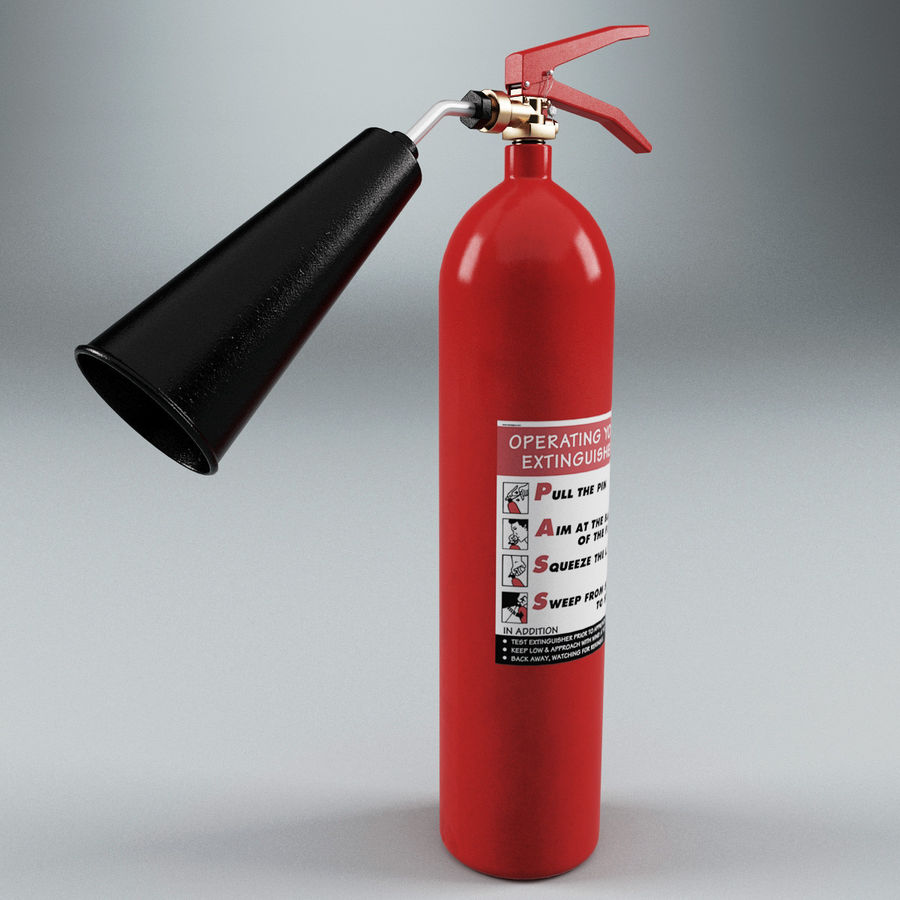 Fire Extinguisher V2 royalty-free 3d model - Preview no. 2