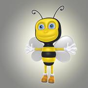 abelha de desenho animado 3d model
