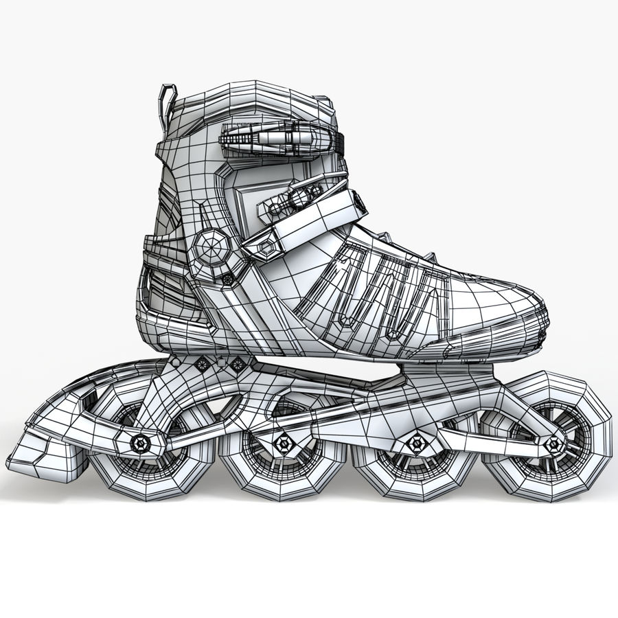 Rollerblades royalty-free 3d model - Preview no. 11