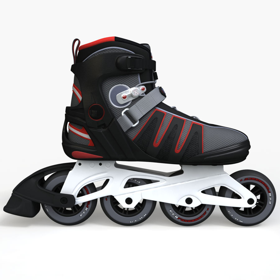 Rollerblades royalty-free 3d model - Preview no. 6