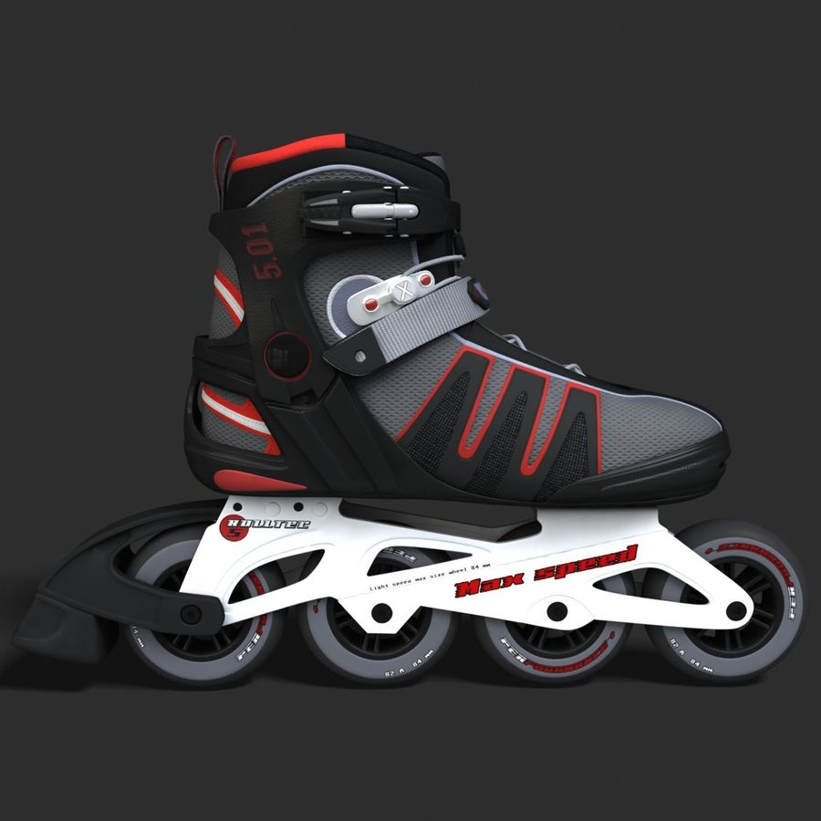 Rollerblades royalty-free 3d model - Preview no. 2