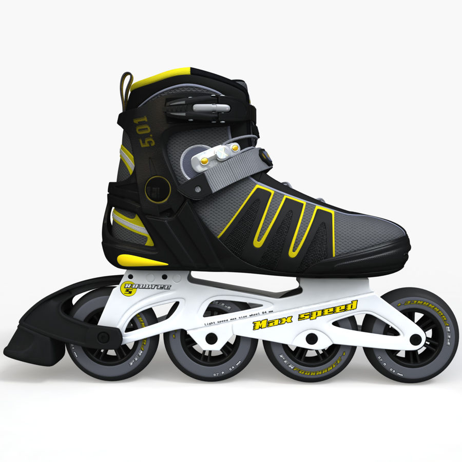 Rollerblades royalty-free 3d model - Preview no. 4