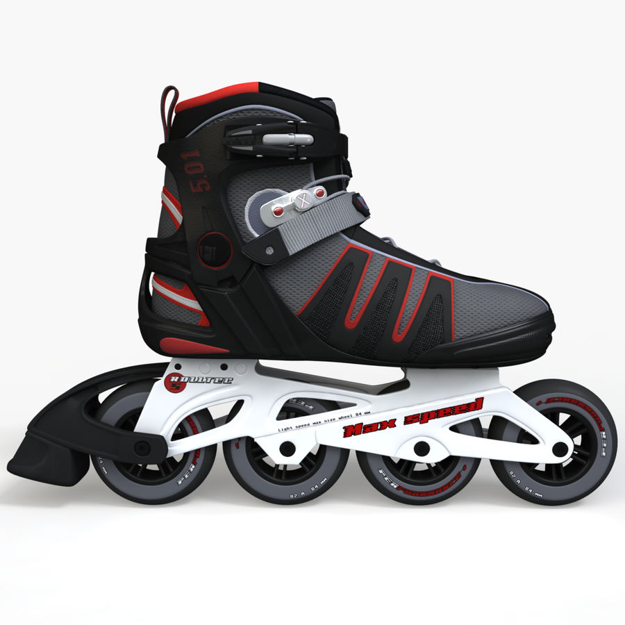 Rollerblades royalty-free 3d model - Preview no. 5