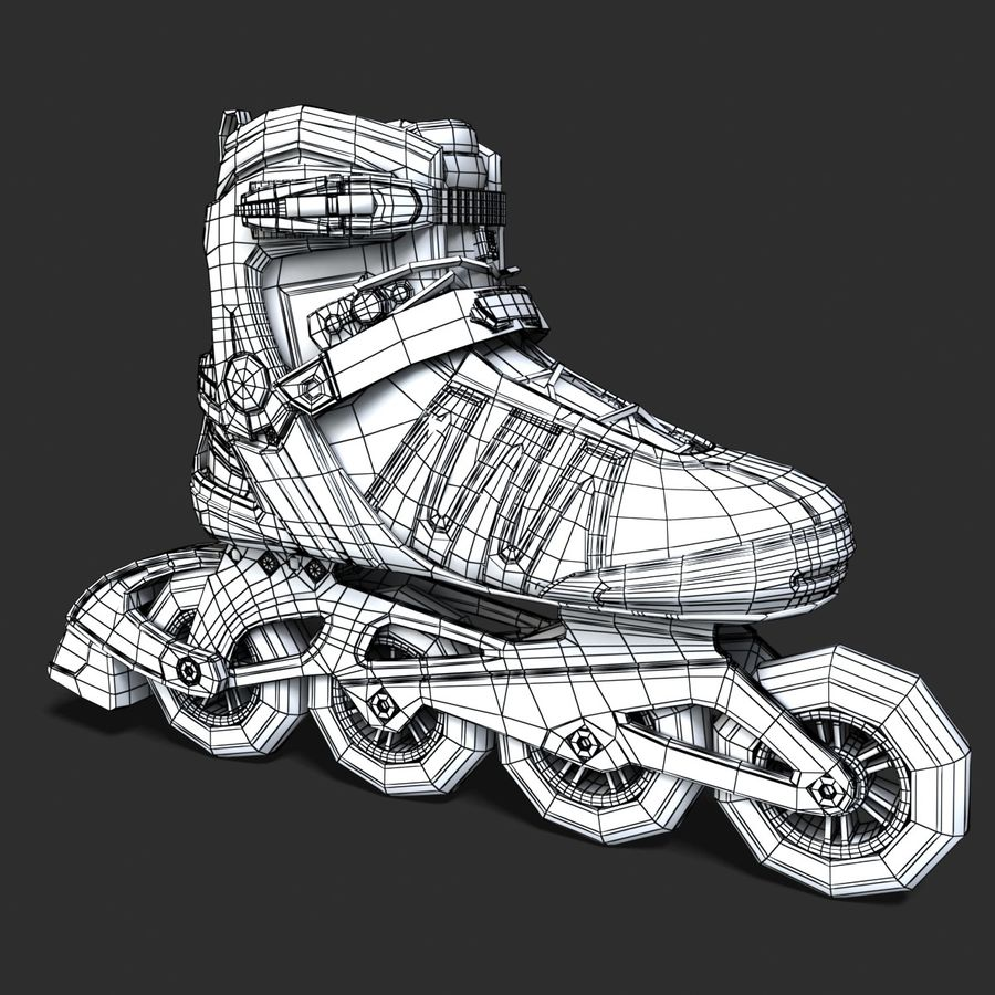 Rollerblades royalty-free 3d model - Preview no. 10