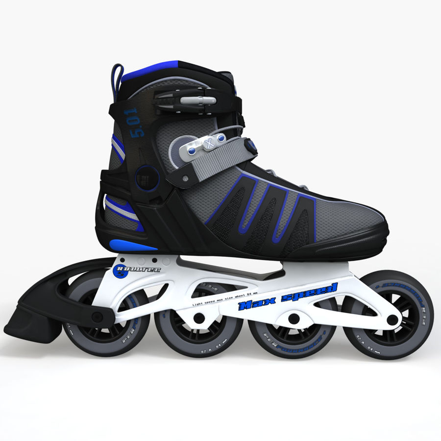 Rollerblades royalty-free 3d model - Preview no. 3