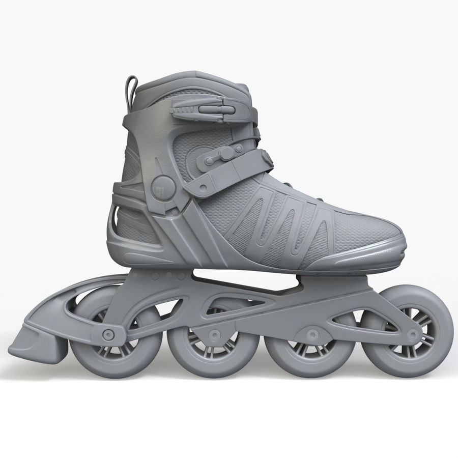 Rollerblades royalty-free 3d model - Preview no. 7