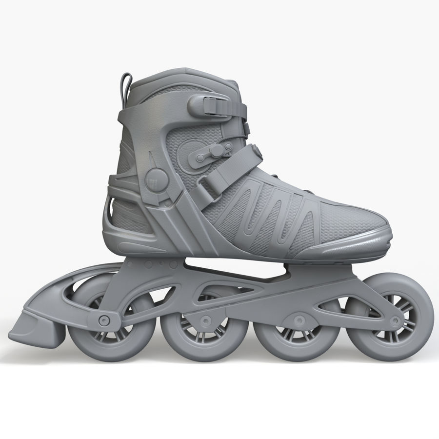 Rollerblades royalty-free 3d model - Preview no. 8