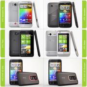 Smartphones HTC 3d model